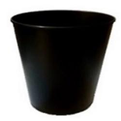 PAPELERA PLASTICO NEGRO 10 L