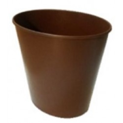 PLASTIC BIN TRASH 10 L BROWN