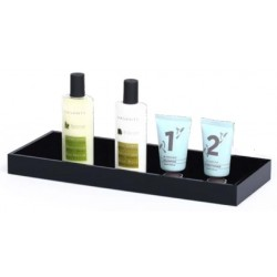 BLACK AMENITIES TRAY