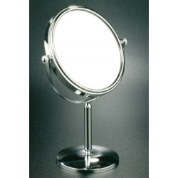 Magnifying mirror free standing